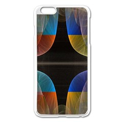 Black Cross With Color Map Fractal Image Of Black Cross With Color Map Apple iPhone 6 Plus/6S Plus Enamel White Case