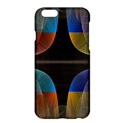 Black Cross With Color Map Fractal Image Of Black Cross With Color Map Apple Iphone 6 Plus/6s Plus Hardshell Case