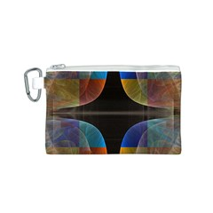 Black Cross With Color Map Fractal Image Of Black Cross With Color Map Canvas Cosmetic Bag (s)