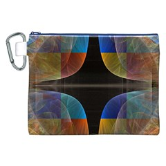 Black Cross With Color Map Fractal Image Of Black Cross With Color Map Canvas Cosmetic Bag (xxl)