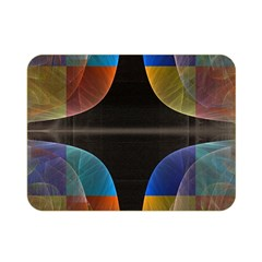 Black Cross With Color Map Fractal Image Of Black Cross With Color Map Double Sided Flano Blanket (Mini)