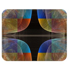 Black Cross With Color Map Fractal Image Of Black Cross With Color Map Double Sided Flano Blanket (medium)