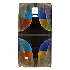 Black Cross With Color Map Fractal Image Of Black Cross With Color Map Galaxy Note 4 Back Case