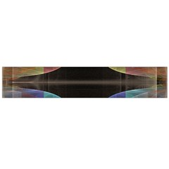 Black Cross With Color Map Fractal Image Of Black Cross With Color Map Flano Scarf (large)