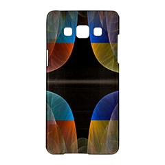 Black Cross With Color Map Fractal Image Of Black Cross With Color Map Samsung Galaxy A5 Hardshell Case