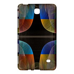 Black Cross With Color Map Fractal Image Of Black Cross With Color Map Samsung Galaxy Tab 4 (7 ) Hardshell Case