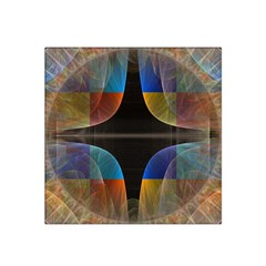 Black Cross With Color Map Fractal Image Of Black Cross With Color Map Satin Bandana Scarf