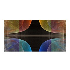 Black Cross With Color Map Fractal Image Of Black Cross With Color Map Satin Wrap