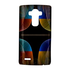 Black Cross With Color Map Fractal Image Of Black Cross With Color Map Lg G4 Hardshell Case