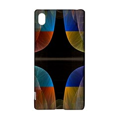 Black Cross With Color Map Fractal Image Of Black Cross With Color Map Sony Xperia Z3+