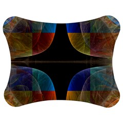 Black Cross With Color Map Fractal Image Of Black Cross With Color Map Jigsaw Puzzle Photo Stand (Bow)
