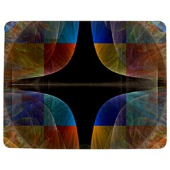 Black Cross With Color Map Fractal Image Of Black Cross With Color Map Jigsaw Puzzle Photo Stand (Rectangular)
