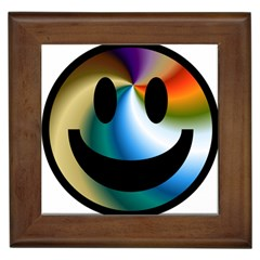 Simple Smiley In Color Framed Tiles