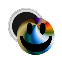 Simple Smiley In Color 2.25  Magnets