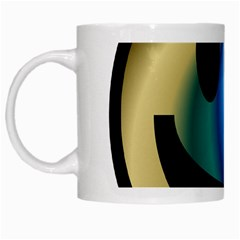 Simple Smiley In Color White Mugs