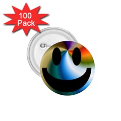 Simple Smiley In Color 1 75  Buttons (100 Pack)