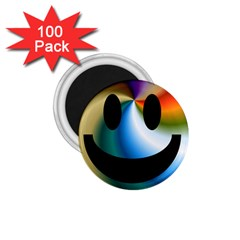 Simple Smiley In Color 1.75  Magnets (100 pack)