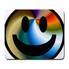 Simple Smiley In Color Large Mousepads