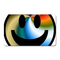 Simple Smiley In Color Magnet (Rectangular)