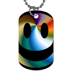 Simple Smiley In Color Dog Tag (One Side)
