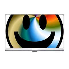 Simple Smiley In Color Business Card Holders