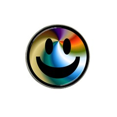 Simple Smiley In Color Hat Clip Ball Marker