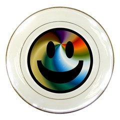 Simple Smiley In Color Porcelain Plates