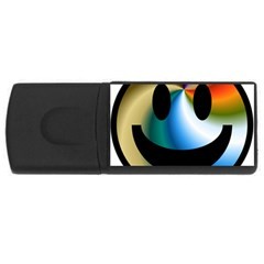 Simple Smiley In Color USB Flash Drive Rectangular (4 GB)