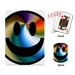 Simple Smiley In Color Playing Card