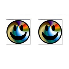 Simple Smiley In Color Cufflinks (square)