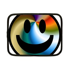 Simple Smiley In Color Netbook Case (Small)