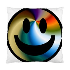 Simple Smiley In Color Standard Cushion Case (two Sides)