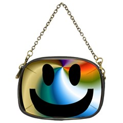 Simple Smiley In Color Chain Purses (Two Sides)
