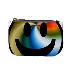 Simple Smiley In Color Mini Coin Purses