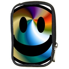Simple Smiley In Color Compact Camera Cases