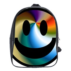 Simple Smiley In Color School Bags(large)