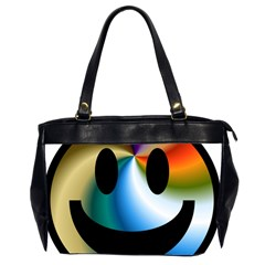 Simple Smiley In Color Office Handbags (2 Sides)