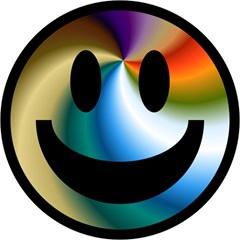 Simple Smiley In Color Magic Photo Cubes