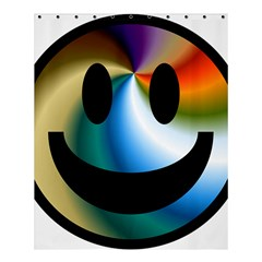 Simple Smiley In Color Shower Curtain 60  X 72  (medium)