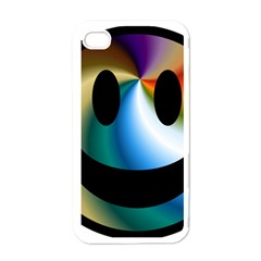 Simple Smiley In Color Apple iPhone 4 Case (White)