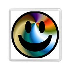 Simple Smiley In Color Memory Card Reader (Square)