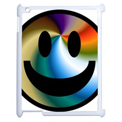 Simple Smiley In Color Apple iPad 2 Case (White)
