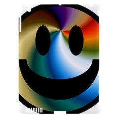 Simple Smiley In Color Apple iPad 3/4 Hardshell Case (Compatible with Smart Cover)