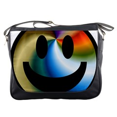 Simple Smiley In Color Messenger Bags