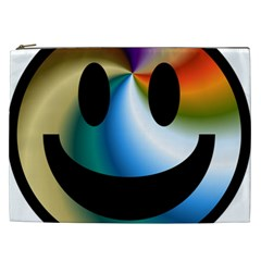 Simple Smiley In Color Cosmetic Bag (XXL)