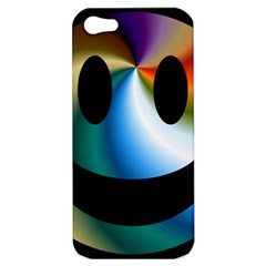 Simple Smiley In Color Apple Iphone 5 Hardshell Case