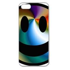 Simple Smiley In Color Apple Seamless iPhone 5 Case (Clear)