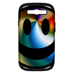 Simple Smiley In Color Samsung Galaxy S Iii Hardshell Case (pc+silicone)