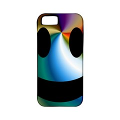 Simple Smiley In Color Apple iPhone 5 Classic Hardshell Case (PC+Silicone)
