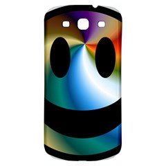 Simple Smiley In Color Samsung Galaxy S3 S III Classic Hardshell Back Case